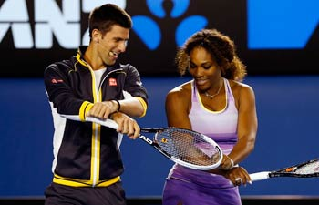 serena williams and djokovic